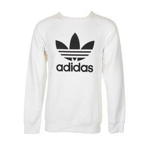 Adidas Men's Trefoil Logo Raglan Sleeve Sweatshirt